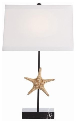 Arteriors Tess Natural Starfish Marble Iron Lamp traditional table lamps