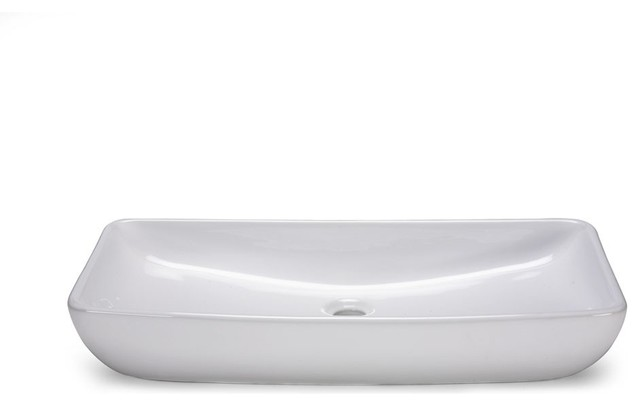 Xylem-CVE277RC Rectangular Vitreous China Vessel Sink in White traditional bathroom sinks