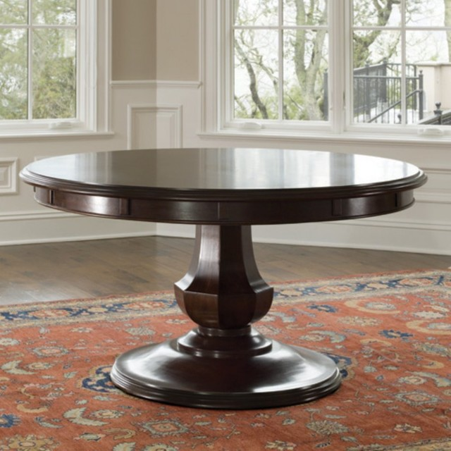 brownstone sienna round dining table modern dining