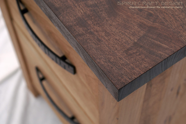 Chardon Cherry and Walnut Two Drawer File Cabinet - Modern ...