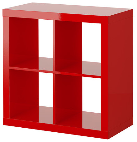 Expedit Shelving Unit, High-Gloss Red - Contemporary - Bookcases - by IKEA