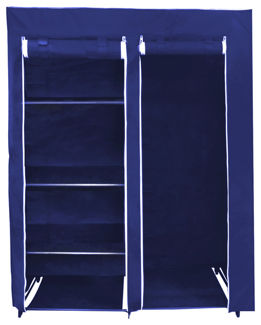 48 Inch Portable Closet - Navy - Contemporary - Clothes Racks - by HoldNStorage