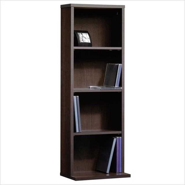 Sauder Beginnings Multimedia Storage Tower in Cinnamon Cherry Finish - Transitional - Bookcases ...