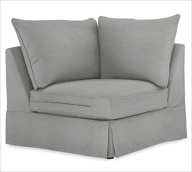 PB Comfort Corner, Knife-Edge Cushions, Polyester Wrap Cushions, Washed Linen/Co traditional-pillows