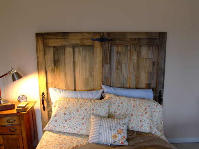 Reclaimed Doors Headboard eclectic headboards