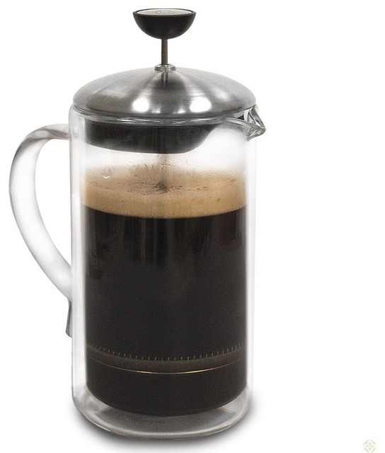 Double Wall Coffee Press 8cp contemporary-coffee-makers-and-tea-kettles