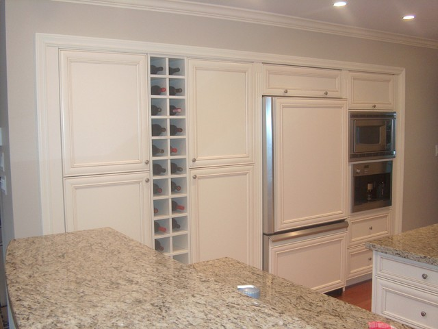 Custom White Cabinets & Wine Rack - Traditional - Wine Racks - other ...