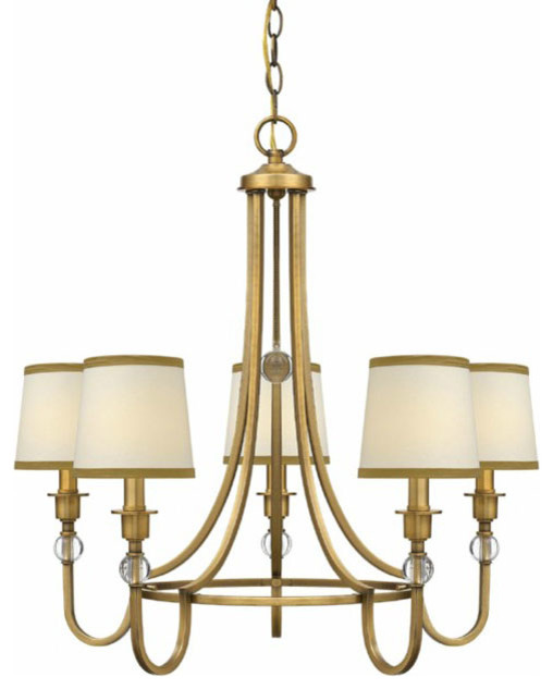 traditional gold and fabric shades chandelier contemporary chandeliers new york by. Black Bedroom Furniture Sets. Home Design Ideas