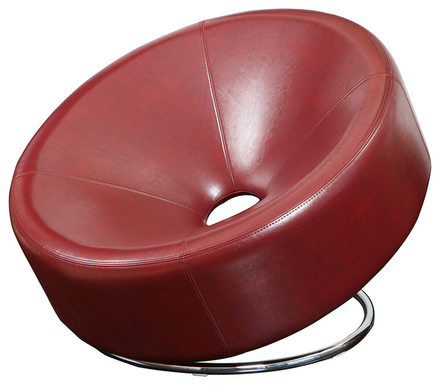 Nouvelle Design Leather Accent Chair - modern - chairs - by Great