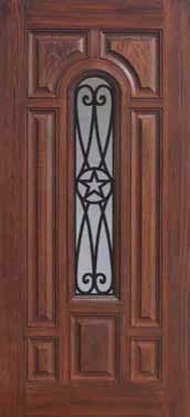 Single Door 80 Fiberglass Austin Texas Star Center Arch Lite6366 traditional-front-doors