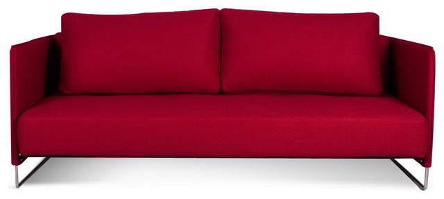 Merlin Red Sofa Bed modern-sofa-beds