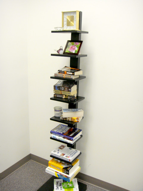 Spine Standing Book Shelves Black - Storage And Organization