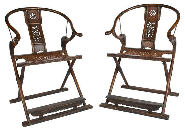 Ornate Wood Chinese Throne Chairs - Pair - $3,600 Est. Retail - $1,475 on Chairi asian-armchairs-and-accent-chairs