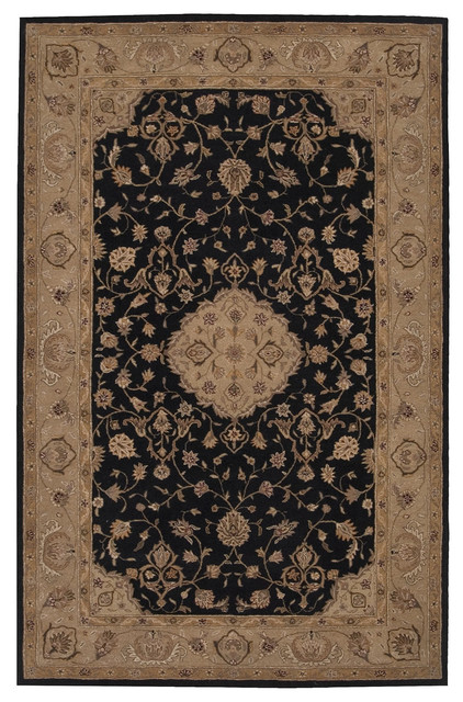 "Nourison Heritage Hall 7'9"" x 9'9"" Black Rug contemporary-rugs"
