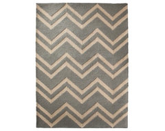 Threshold Hooked Chevron Area Rug, Blue contemporary-rugs