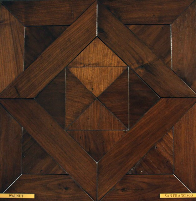 Hand-built parquets and patterns traditional