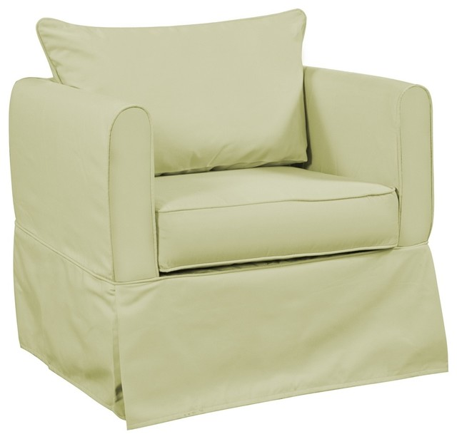 Starboard Willow Alexandria Chair Cover contemporary-living-room-chairs