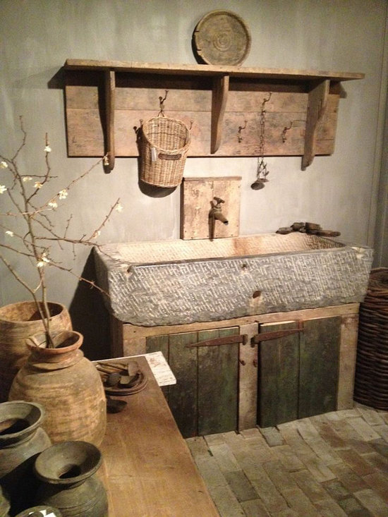 Kitchen Stone Sinks (Farmhouse Syle) - Image provided by 'Ancient Surfaces'