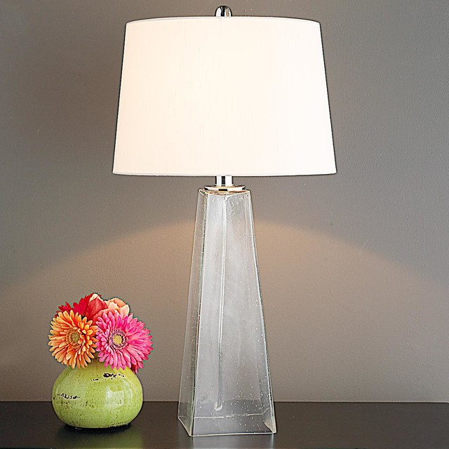 Seeded Glass Pyramid Table Lamp Lamp Shades By Shades Of Light