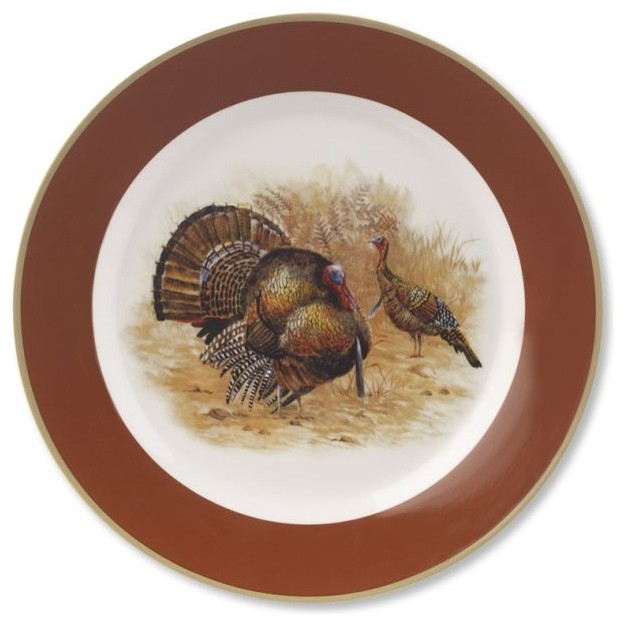 Woodland Turkey Dinner Plate - traditional - dinnerware - - by ...