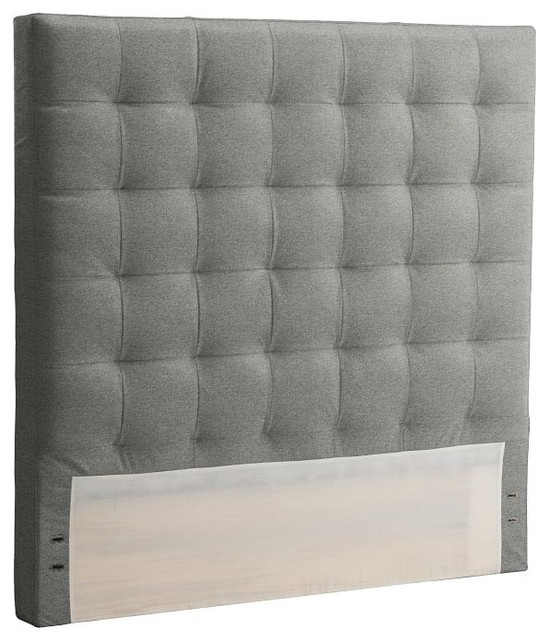 Tall Grid Tufted Headboard modern headboards