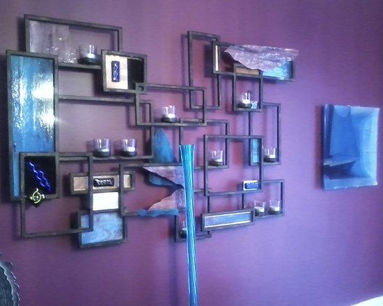 CUSTOM METAL/GLASS SCULPTURE -