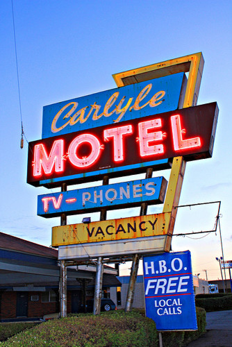 Authentic Vintage Route 66 Neon Motel Sign eclectic-artwork