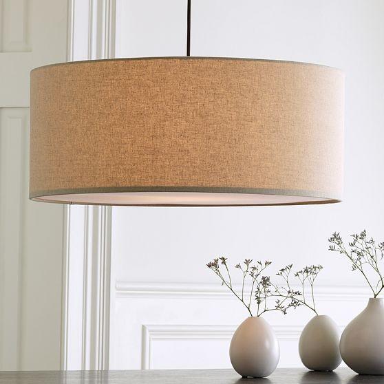 Short Drum Pendant modern-pendant-lighting
