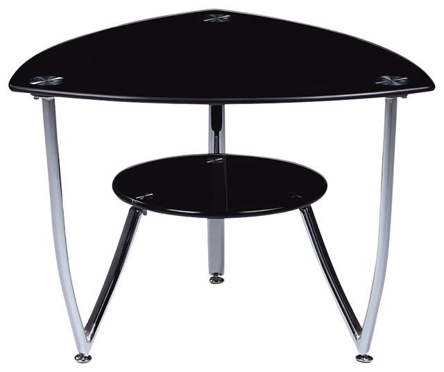 Houzz Black Coffee Table: Global Furniture USA T601 Triangular Black Glass End Table