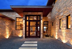 Contemporary home on Lake Austin opens up to view