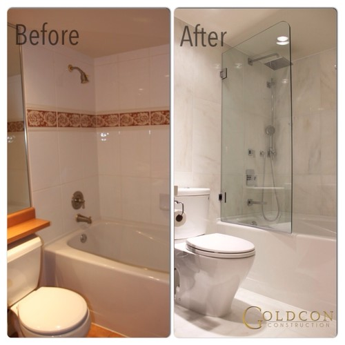 Before and after bathroom renovation for Bath remodel before and after pictures
