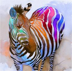 Zebra Dreams Giclee Print by Galen Hazelhofer at Art.co.uk