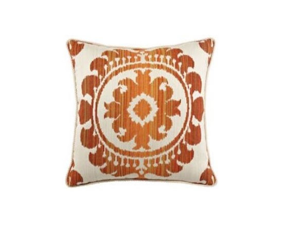 "Elaine Smith Luxury Outdoor Pillows - Elaine Smith Pillows Acapulco Ikat Leo II - 20"" x 20"" - Elaine Smith pillow collections is the world's first and only line of outdoor luxury pillows. They start with the best, solution dyed yarns and work with the finest U.S. mills to create beautiful, long lasting quality products. These pillows can withstand nature and human nature, resisting sun, rain, and stains."