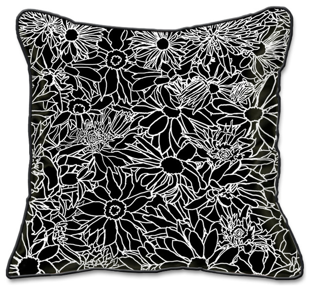 Flower Power Pillow Slipcover eclectic-decorative-pillows