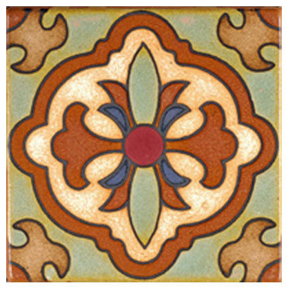 Terracotta Accent Tile mediterranean kitchen tile