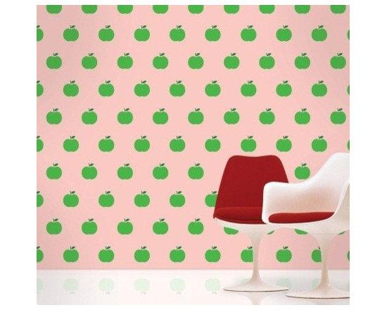 Wallcandy Arts Apple Pink/Green - Wallcandy Arts Apple Pink/Green
