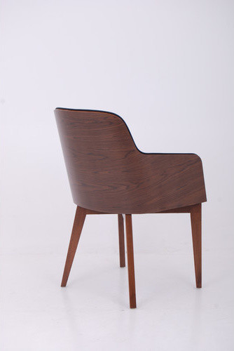 Hudson Arm Chair with Wood Legs modern-accent-chairs