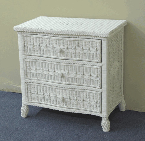 Drawer Victorian Wicker Dresser - Traditional - other metro - by ...