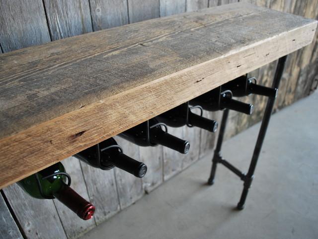 Modern Industry Wine Table and Rack industrial-wine-racks