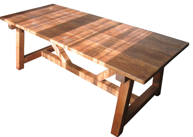 Trestle farmhouse table reclaimed wood farmhouse dining Farm dining table