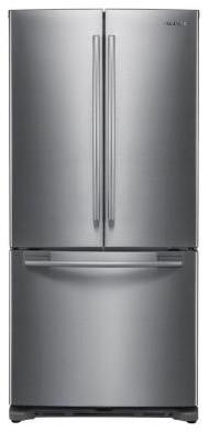 Samsung Refrigerator. 17.8 cu. ft. French Door Refrigerator in Platinum RF197ACP contemporary-refrigerators
