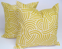 Yellow Decorator Pillow Covers By ElemenOPillows contemporary-decorative-pillows
