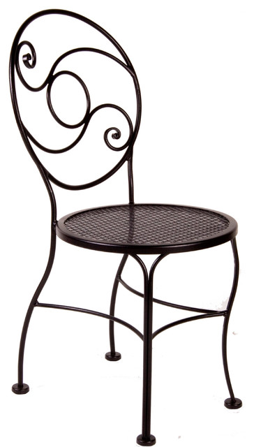 Bistro cirque side chair eclectic dining chairs