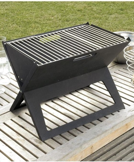 Hotspot notebook charcoal grill modern outdoor grills for Modern barbecue grill