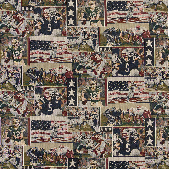 Pro football american flags themed tapestry upholstery for Space themed tapestry
