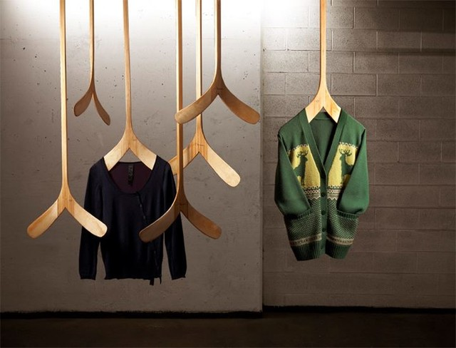 Schtick Canadiana Hockey Clothing Hanger Modern