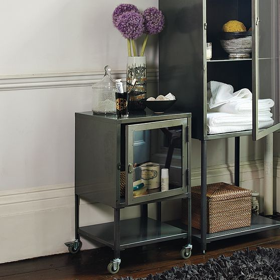 Short Industrial Metal Bath Cabinet Modern Bathroom Cabinets And Shelves By West Elm