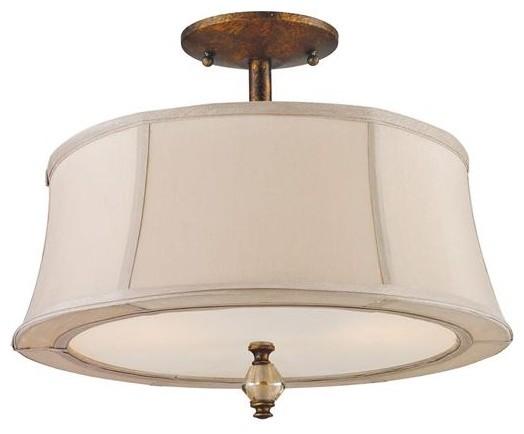 Elk Lighting 11331/2 2 Light Semi-Flush Mount Crestview Collection flush-mount-ceiling-lighting