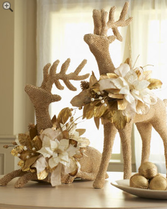 Two Shell Reindeer Holiday Decor holiday-decorations