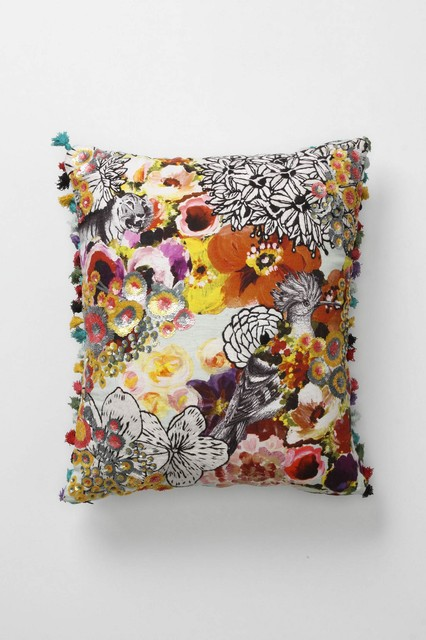 Fringed Botanicals Pillow - Anthropologie.com decorative-pillows